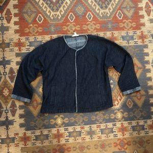 Eileen Fisher Denim style blue cardigan PM